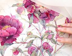 "Check out this @Behance project: ""Peonies in watercolor"" https://www.behance.net/gallery/31127201/Peonies-in-watercolor"