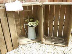 Handmade Vintage Style Wooden Apple Crates Storage BOX Fruit Crates Bushel BOX   eBay