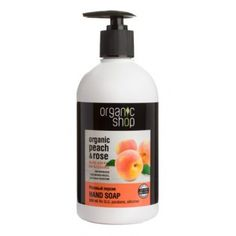 Jabón de Manos Melocotón y Rosa Organic Shop 50 Euro, Nutrition, Hair Care, Soap, Hands, Bottle, Shampoos, Natural Soaps, Oil