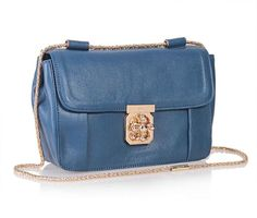 7908bf21446 Chloe Elsie Blue Calfskin Leather Bag 181625