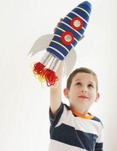 Kid) diy bottle rocket, crafts for boys, diy for kids, fun crafts, Rocket Craft, Diy Rocket, Crafts For Kids To Make, Projects For Kids, Kids Crafts, School Projects, Diy Bottle Rocket, Transportation Crafts, Rockets For Kids