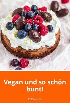 Kunterbunter Schokoladenkuchen für Ostern | eatsmarter.de #vegan #veganfood #kuchen