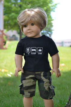American Boy Doll, American Doll Clothes, Boy Doll Clothes, Barbie Clothes, Doll Dress Patterns, Clothing Patterns, Sewing Patterns, 18 Inch Boy Doll, Girl Dolls