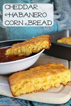 Cheddar Habanero Corn Bread is cheesy and spicy and super awesome.