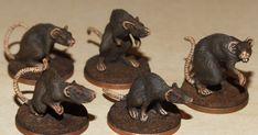 AWESOME SET OF DISEASED RATS! SET OF 5 PLAGUE RATS Otherworld Miniatures D/&D