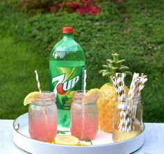 Easy Adult Pink Lemonade Recipe  •2oz. 7Up or Diet 7Up •4oz. Vodka •4oz. Pink lemonade •Fresh lemons sliced •Crushed ice •Sugar for rim of glass, if desired