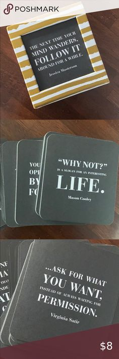 MOTIVATIONAL Quote Card Set Cute on a coffee table. Has great quotes on these double-sides cards Accents