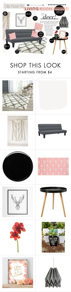 """""""Oh, Deer!! All This For Only $470.50?"""" by sierrrrrra ❤ liked on Polyvore featuring interior, interiors, interior design, home, home decor, interior decorating, Safavieh, 4040 Locust, Deborah Lippmann and livingroom"""