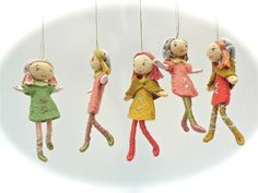 Miniature Milly Molly hanging ornament doll gift by by VerityHope