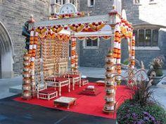 Traditional Hindu mandap