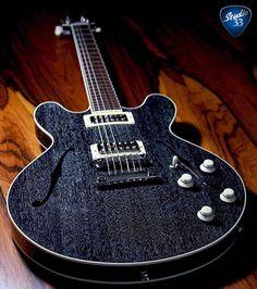 "Very cool @collingsguitars I35 Deluxe mahogany in ""Dog Hair"" finish! #guitar #studio33guitar"
