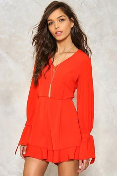 Hands are Tied Ruffle Romper