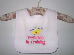 1 custom embroidered baby bib - lots of cute sayings to pick from