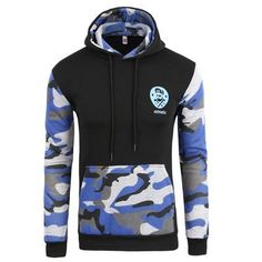 Casual Camo men's pullover hoodie - 5 Colors