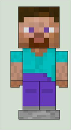 Minecraft Papercraft Steve (Paper Pezzy)