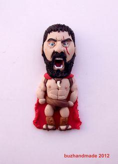 King Leonidas 300 by buzhandmade.deviantart.com on @deviantART...cute! But makes me laugh!!!