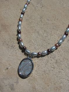 Wind Freshwater and Glass Pearl Necklace