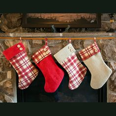 Our plaid and burlap Christmas stockings are handmade just for you! FREE SHIPPING gives you reason the celebrate even more. Celebrate Christmas in old fashioned charm with your handmade burlap and plaid Christmas stockings. Personalized name tags to compliment your stockings are available as an add on purchase. Link for purchase is https://www.etsy.com/listing/170629859/custom-printed-burlapcotton-stocking  Your rustic burlap and plaid Christmas stockings come fully lined and are a charming…