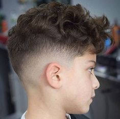 35 Cool Haircuts For Boys Guide) Messy Curly Hair with Mid Fade Boys Curly Haircuts Kids, Boys Fade Haircut, Boy Haircuts Long, Kids Curly Hairstyles, Toddler Boy Haircuts, Cool Haircuts, Short Hairstyle, How To Boys Haircut, Hairstyle Ideas