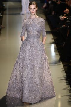 Elie Saab ensured dresses truly sparkled with intricate handwork throughout the designs.