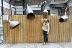 Studio Weave has transformed an awkward exterior space landlocked by buildings into the LULLABY FACTORY, a secret world in the heart of London that cannot be seen except from inside the hospital and cannot be heard by the naked ear (only by tuning in to its radio frequency or from a few special listening pipes). Photos: ©Studio Weave http://www.archipanic.com/the-lullaby-factory/