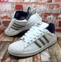 adidas Originals Mens Superstar Trainers White/Blue sz 5.5 Sneakers US 6 38 2/3  | eBay