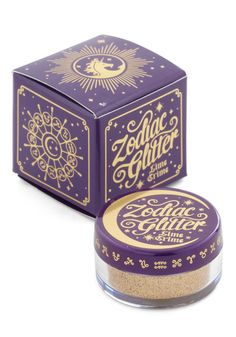 Zodiac Glitter in Leo. Bring multidimensional glamour to your day with this luxe makeup by Lime Crime. #gold #modcloth