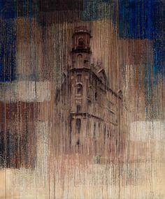 "Картина ""Дом на Пяти углах"", 120х100 см, холст, масло"