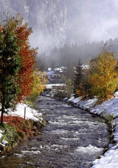 Early Snow Falls in the Gastein Valley, Austria