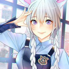 Judy Hopps , Zootopia version Anime , Usagi Girl