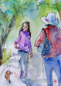 "5""x7"" watercolour by Nora MacPhail - ""Beans"""