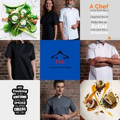 F&L Catering Suppliers where the chef is always right. The number one place for unique chef attire with attitude. High quality and delivered straight to your door. Long sleeve, short sleeve chef jacket. Mens, Womens, & Unisex Chef jackets, Chef trousers, chef hats & aprons.New fashion chef jackets for best chefs in 2020. Chef Hats, Catering Equipment, Best Chef, The Smoke, Aprons, Chefs, Chef Jackets, Attitude, Trousers