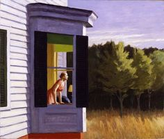 Edward Hopper Cape Cod Morning painting is shipped worldwide,including stretched canvas and framed art.This Edward Hopper Cape Cod Morning painting is available at custom size. Rembrandt, American Realism, American Artists, Edouard Hopper, Edward Hopper Paintings, Art Sur Toile, Franz Kline, Fine Art, Oeuvre D'art