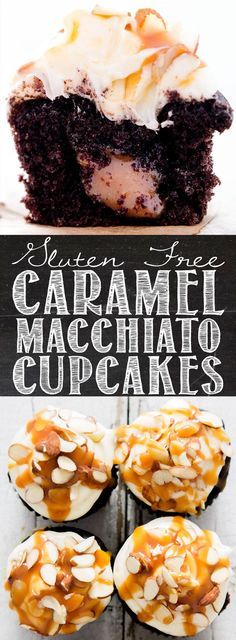Gluten Free Caramel Macchiato Cupcakes Simple Cake for holiday Gluten Free Cupcakes, Gluten Free Sweets, Baking Cupcakes, Yummy Cupcakes, Gluten Free Baking, Cupcake Recipes, Cupcake Cakes, Dessert Recipes, Top Recipes
