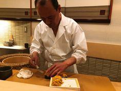 Chef Takashi Ono Preparing The Uni Sukiyabashi Jiro, Jiro Dreams Of Sushi, Tokyo Subway, Roppongi Hills, Sushi Chef, Uni