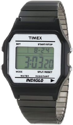Timex Men's T2N028T8 Fashion Digitals Premium Black Watch Timex. $42.00. 24-hour chronograph. Hourly chime. Daily alarm. Time and date (12/24-hour format). Indiglo night-light