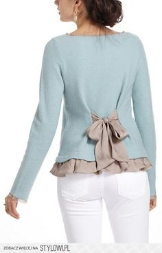 DIY INSPIRATION -- up cycle for short boxy sweaters or tops  -- no instructions, just this image