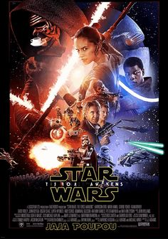Star Wars episode VII: The Force Awakens funny animated poster