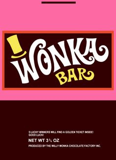 Enterprising image for wonka bar printable