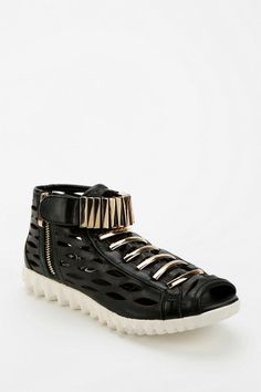 Jeffrey Campbell Gertz Cutout High-Top Sneaker