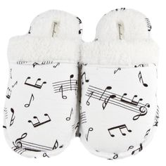 Leisureland Women's Music Note Print Cotton Flannel Slippers - Overstock™ Shopping - The Best Prices on Leisureland Women's Slippers. $20