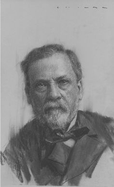 """Casey Childs """"Louis Pasteur (1822-1895)"""" - 14x8.5, Charcoal on Paper - at Principle Gallery"""