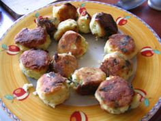 Greek recipe - greek food recipes and cooking - Potato balls from Lesvos - Πατατοκεφτέδες. Omg these are Amazing!