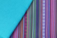 kleuren combineren met de mexicaanse stof uit onze collectie #mintyrose