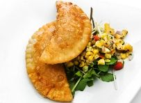 Empanandas de Papas - Empanadas are a traditional Chilean dish but are usually made with meat. This recipe is a vegetarian alternative - from Moosewood - very good recipes