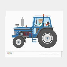 Are you interested in our blue tractor postcard shower? With our farmer tractor postcard showler you need look no further.