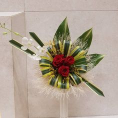 Image may contain: flower and plant Creative Flower Arrangements, Contemporary Flower Arrangements, Tropical Flower Arrangements, Church Flower Arrangements, Altar Flowers, Church Flowers, Paper Flowers, Exotic Flowers, Tropical Flowers