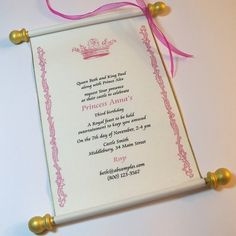 princess invitation template - Google Search