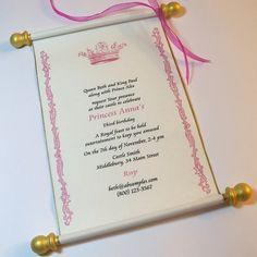 princess invitation template - Google Search