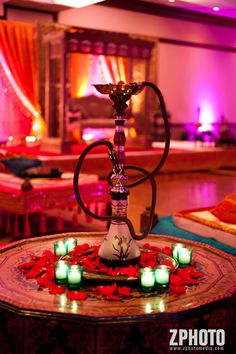 yep, totally bringing out the hookah bar at my wedding. would work really well for a qawwali themed sangeet Arabian Party, Arabian Nights Theme, Persian Wedding, Moroccan Wedding, Pool Bar, Wedding Table Centerpieces, Wedding Decorations, Wedding Themes, Table Decorations